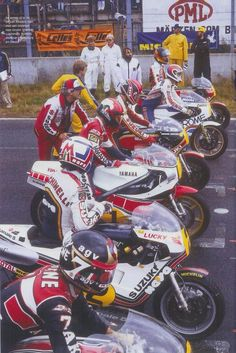First líne Legends Sheene, Lucchinello, Roberts, Mamola, middleburgh,