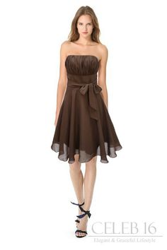 Elegant Brown bridesmaid dresses to match the band on my white camo wedding dress