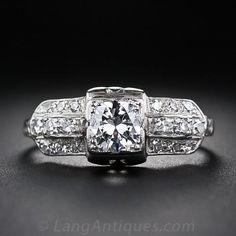 .50 Carat Art Deco Engagement Ring in Platinum - Art Deco Jewelry - Vintage Jewelry