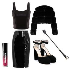 """""""The Dominant Role"""" by mistress-webb ❤ liked on Polyvore featuring Topshop Unique, Jimmy Choo and Givenchy"""
