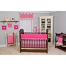 image of Pam Grace Creations Tabby Cheetah 10-Piece Crib Bedding Set