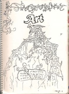 My Front Cover for Art ft Alduin the World Eater from Skyrim By Taylor Ristevski