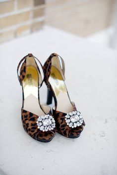 Wedding Shoes/ Rhinestones/ Cheetah Print/ Unique Shoes FOR HILLARY