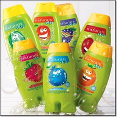 AVON Naturals for Kids bodywash and bubble bath. Ages for 3 and up. A bodywash that can be used as a bodywash or a bubble bath. Some scents available in different scents tear free/ dermatologist tested You can find this product at http://www.youravon.com/Jennifergagnon Reg. $5