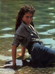 US Vogue February 1982 Calvin Klein Jeans Andie Macdowell, Bruce Weber, Original Supermodels, Glamour Shots, Beautiful Actresses, Beautiful Models, Real Women, Hollywood Actresses, 90s Fashion