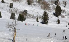 Tahoe Meadows snow play area near Mt. Rose, Nevada.
