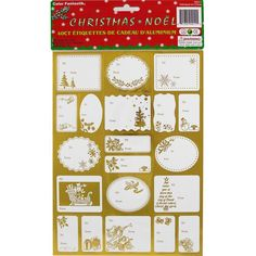 JAM Paper® Foil Christmas Gift Tag Stickers - Gold - 40/pack -- You can get additional details at the image link.
