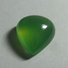 10.7 Carat Natural Rare Green Serpentine 15.9x14.8 mm Pear Shape Cabochon #Unbranded