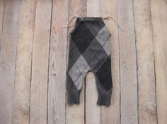Newborn Boy Overall Pants Upcycle Photo Prop by HatsByJennifer