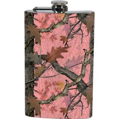 Pink Camo Stainless Steel Flask - Camo Collection - Your Style