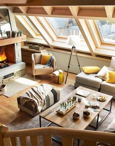 decordemon: The warm interior of mountain house in Spain