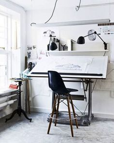 Stylish Scandinavian Home Office 2014