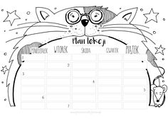 Plan lekcji * do druku * School Timetable, School Schedule, Sad Stories, Special Education, Lesson Plans, Back To School, Diy And Crafts, Doodles, Bullet Journal
