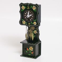 Tiny Hand Painted Grandfather Clock