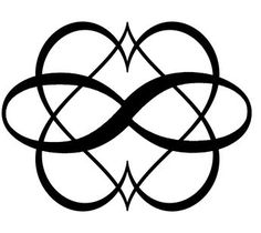One in a series of three potential symbols for Polyamory which I may or may not be considering getting tattooed.> Pols One Couple Tattoos, Love Tattoos, Body Art Tattoos, New Tattoos, Tattoos For Women, Infinity Heart Symbol, Relationship Tattoos, Knot Tattoo, Infinity Tattoos
