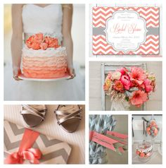 Haute Chocolate - Calgary Party Styling and Custom Party Decor: Crushing on Coral + Gray