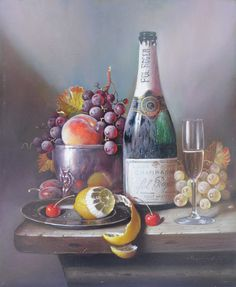 Raymond Campbell - Champagne Pol Roger, lemon and grapes