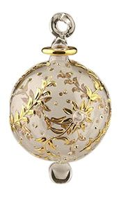 Egyptian Handmade Beautiful Glass Large Christmas Ornament.