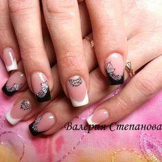 130+ black and white nails art 2018