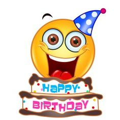 Emoticons Happy Birthday Smiley Friend Greeting Cards