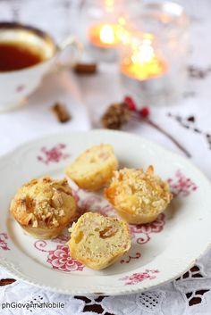Mini muffin con prosciutto cotto e nocciole, sul mio blog, la cuoca eclettica, la ricetta