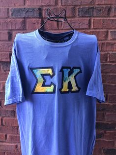 Comfort Colors Sorority Letter Shirt by AuntieJsDesigns on Etsy