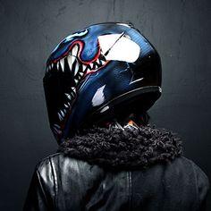 Venom Airbrushed Motorcycle Helmet Full Face Paint Dot | eBay