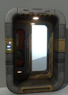sci-fi door 3d x - Sci-Fi_Door_01... by vertexartist
