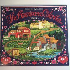 Charles Wysocki Calendar Art Prints Americana New England Early America 1998