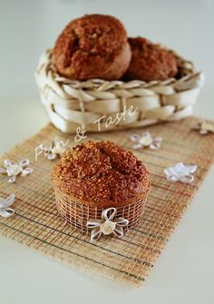 Bran Cinnamon Muffins. The ideal for a sweet snack for Dukan diet.