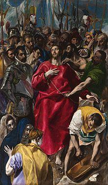 El Expolio de Cristo (1577-1579), de El Greco. En exposición en la Sacristía de la Catedral de Toledo.