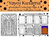 Art lesson - for fall, autumn, Halloween and art. One how to draw a pumpkin in the style of Yayoi Kusama (PDF).One Pumpkin coloring sheet in the style of Yayoi Kusama. Art Lessons For Kids, Artists For Kids, Art Lessons Elementary, 3rd Grade Art Lesson, Third Grade Art, Pumpkin Drawing, Pumpkin Art, Pumpkin Coloring Sheet, Yayoi Kusama Pumpkin