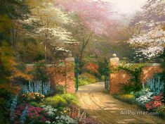 Thomas Kinkade Gate Of New Beginnings oil painting reproductions for sale