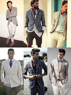 Men's Checked Blazers and Sports Coats Lookbook