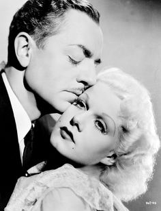 William Powell and Jean Harlow - a still from Libeled Lady (1936). Harlow's death at twenty-six the following year shattered Powell.