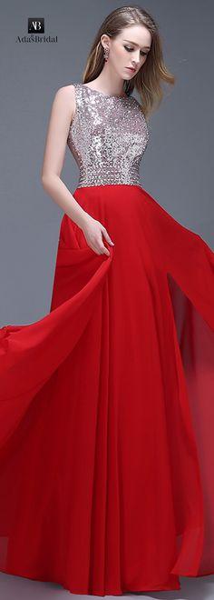 Alluring chiffon bateau neckline full-length A-line prom dresses(SOD93839)