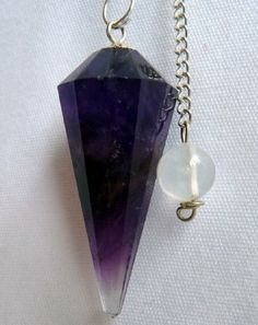 FOR HEALTH AND BEAUTY: Natural Amethyst Crystal Pendulum 12 Facet Reiki Charged: Everything Else