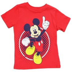 Color Red Sizes 2T 3T 4T Made From 100% Cotton Brand Disney Mickey Mouse