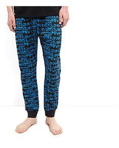 Blue Batman Print Pyjama Bottoms    New Look