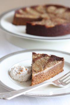 Upside Down Gingerbread Pear Cake (AIP, Paleo)