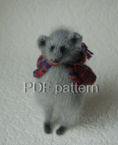 Mouse Toy Knitting Pattern PDF Knitted Toys by InnaDanchenkoArt