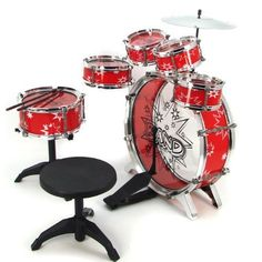 11pc Kids Boy Girl Drum Set Musical Instrument Toy Playset RED - Find Me The Cheapest Price: $35.35