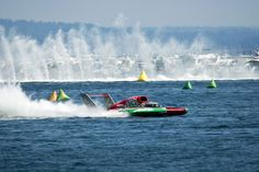 Seafair hydroplane boat races, Seattle Not my photo. I did go to these races years ago. Way before stringent safety rules were enforced. I used to actually lay on an air mattress with my beer and camera and watch but especially feel the thunder of the hydroplanes  Too cool!!!