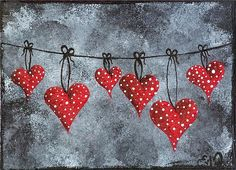 Hanging On To Love by Oddball Art Co by Lizzy Love
