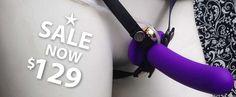 #giftidea for #her this #Xmas - Ambrosia Strap on Vibrator - Australia & New Zealand - Agony Boutique
