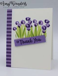 Stampin' Up! Abstract Impressions Thank You Card