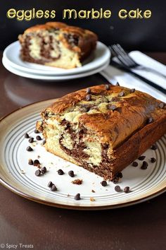 Spicy Treats: Eggless Marble Cake / Eggless Marble Loaf Cake / Chocolate Vanilla Loaf Cake~ For 5 Lakh Hits! Chocolate Cake Recipe For Kids, Eggless Chocolate Cake, Eggless Desserts, Eggless Recipes, Dessert Recipes For Kids, Eggless Baking, Nutella Recipes, Easy Baking Recipes, Simple Recipes