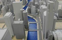 3D printed city. #3dPrintedArchitecture