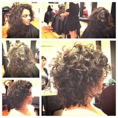 Where curly girls come to get transformed! Curly dry haircutting. Before and after , hair by Anna owner