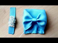 Lacinho RN Lindo By Sandra Monteiro - YouTube Ribbon Hair Clips, Diy Hair Bows, Ribbon Bows, Diy Hair Accessories Ribbon, Baby Hair Bands, Headband Tutorial, Diy Hat, Glitter Hair, Making Hair Bows